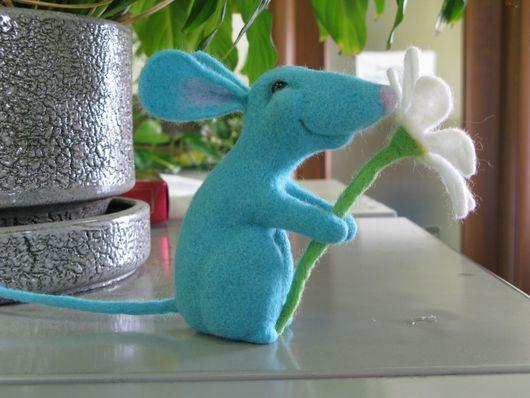 Игрушки животные, ручной работы. Ярмарка Мастеров - ручная работа. Купить Мышонок. Handmade. Шерсть