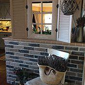 Для дома и интерьера ручной работы. Ярмарка Мастеров - ручная работа Зеркало настенное со ставнями в стиле Прованс. Handmade.