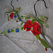 Для дома и интерьера handmade. Livemaster - original item Hanger painted Poppies and cornflowers. Handmade.