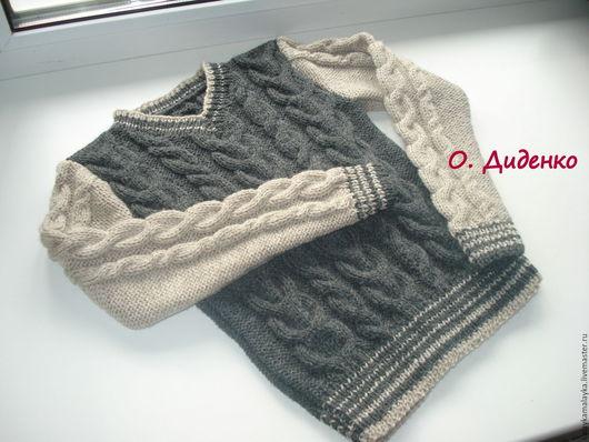 Кофты и свитера ручной работы. Ярмарка Мастеров - ручная работа. Купить Пуловер. Handmade. Серый, теплый, уютный