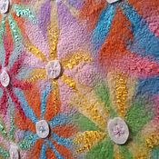 """Для дома и интерьера ручной работы. Ярмарка Мастеров - ручная работа Валяный детский плед """"Цветочная полянка"""". Handmade."""