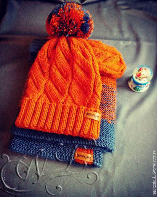 Kit de punto 'Ryzhee el estado de ánimo..!', Headwear Sets, Belovo,  Фото №1