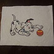 Картины и панно ручной работы. Ярмарка Мастеров - ручная работа Долматинец с мячом. Handmade.