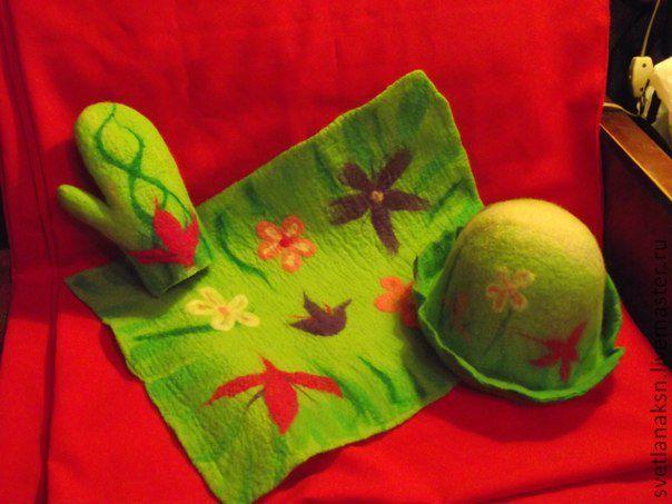 Валяние из шерсти банные шапки