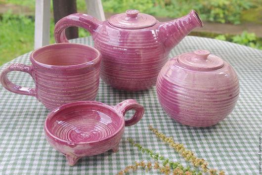 Сервизы, чайные пары ручной работы. Ярмарка Мастеров - ручная работа. Купить Сервиз. Handmade. Фуксия, вишневый