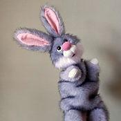 Куклы и игрушки handmade. Livemaster - original item Spring hare. Bibabo. Toy on hand. Toy glove. Puppet theatre.. Handmade.