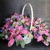 Цветы и флористика ручной работы. Ярмарка Мастеров - ручная работа Розовые Лилии. Handmade.