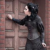 Одежда ручной работы. Ярмарка Мастеров - ручная работа Бронь. Корсет с ручной вышивкой Bellatrix.. Handmade.