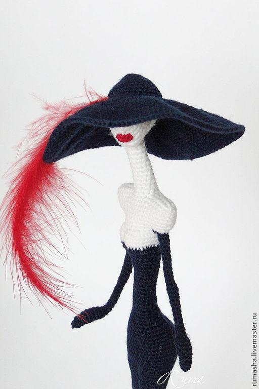 Коллекционные куклы ручной работы. Ярмарка Мастеров - ручная работа. Купить Парижанка. Handmade. Тёмно-синий, игрушка ручной работы