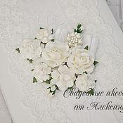 """Свадебный салон ручной работы. Ярмарка Мастеров - ручная работа Папка """"Цветочная поляна"""", в белом. Handmade."""