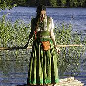 Русский стиль ручной работы. Ярмарка Мастеров - ручная работа подгрудный сарафан и рубаха. Handmade.