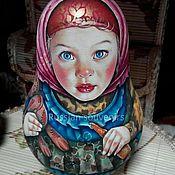 Народные сувениры ручной работы. Ярмарка Мастеров - ручная работа неваляшка. Handmade.