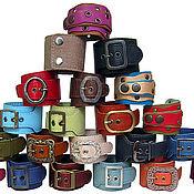Украшения ручной работы. Ярмарка Мастеров - ручная работа разноцветные кожаные браслеты. Handmade.