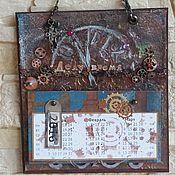 Канцелярские товары ручной работы. Ярмарка Мастеров - ручная работа Стимпанк-календарь. Handmade.