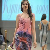 Одежда ручной работы. Ярмарка Мастеров - ручная работа Платье розовое со стрекозой. Handmade.