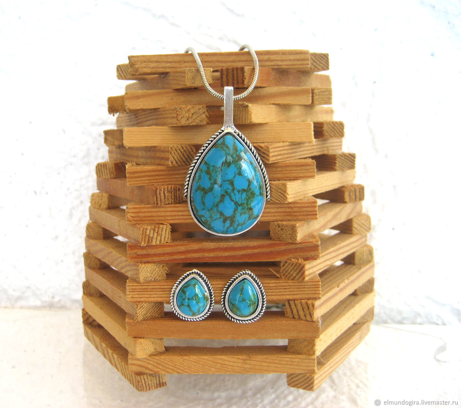 Jewelry sets:Turquoise set, Jewelry Sets, Moscow,  Фото №1