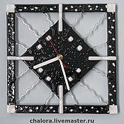 """Часы классические ручной работы. Ярмарка Мастеров - ручная работа Настенные часы """"Паутинка"""". Handmade."""