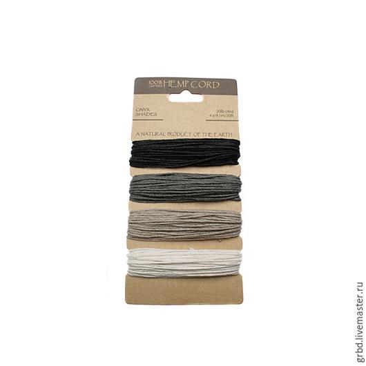 """Для украшений ручной работы. Ярмарка Мастеров - ручная работа. Купить Набор шнуров """"Onyx Shades"""". Handmade. Шнур"""