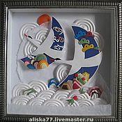 """Картины и панно ручной работы. Ярмарка Мастеров - ручная работа Картина """"Журавли"""". Handmade."""