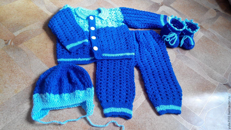 Вязаные шапочки для мальчиков с описанием Вязание 45