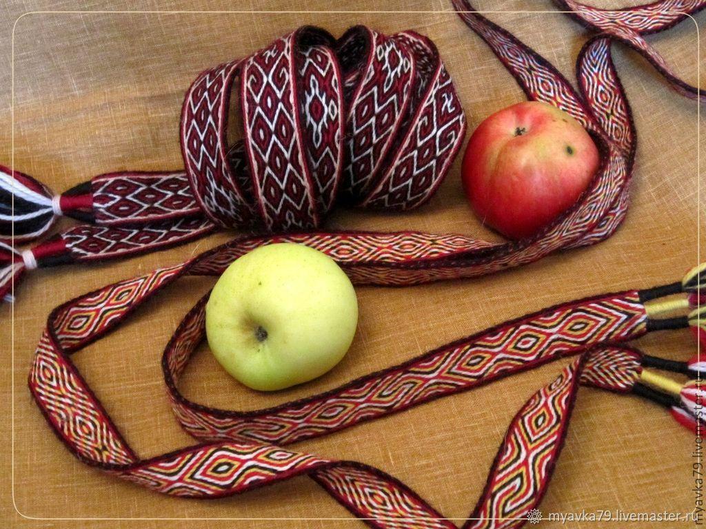 Пояса тканые на дощечках, Пояса и тесемки, Рязань,  Фото №1