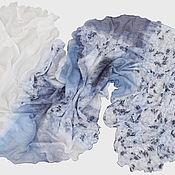 Аксессуары ручной работы. Ярмарка Мастеров - ручная работа Валяный шарф Снег. Handmade.