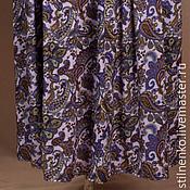 Одежда ручной работы. Ярмарка Мастеров - ручная работа Юбка штапельная розовая с огурцом. Handmade.