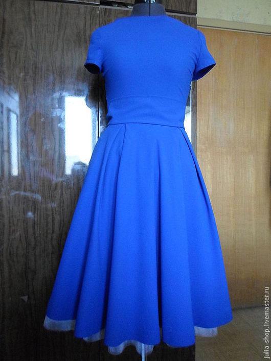 """Платья ручной работы. Ярмарка Мастеров - ручная работа. Купить Синее ретро-платье """" Подружка невесты"""" и нижняя юбка из фатина.. Handmade."""