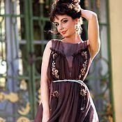 Одежда ручной работы. Ярмарка Мастеров - ручная работа Дизайнерское платье из натурального шелка. Handmade.