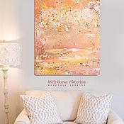 "Pictures handmade. Livemaster - original item Картина маслом ""Очарование солнца"" 50/70см. Handmade."