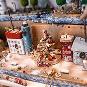 Куклы и игрушки handmade. Livemaster - original item Driftwood houses Christmas village. Handmade.