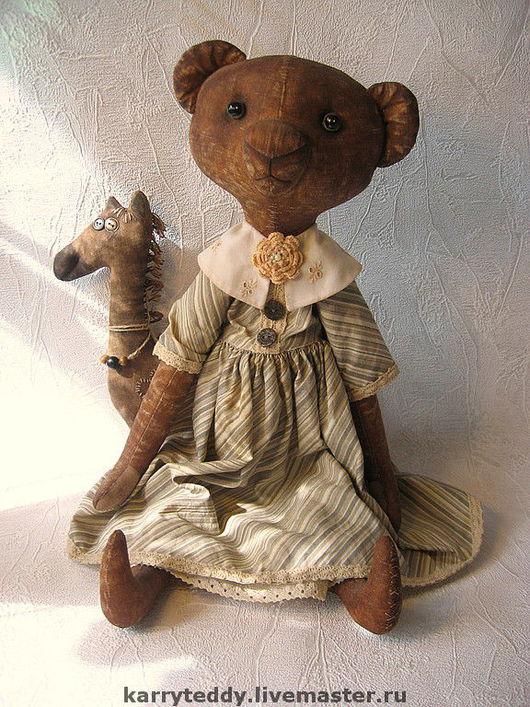 Ароматизированные куклы ручной работы. Ярмарка Мастеров - ручная работа. Купить Верочка. Handmade. Медведь, кофейная игрушка, корица, бязь