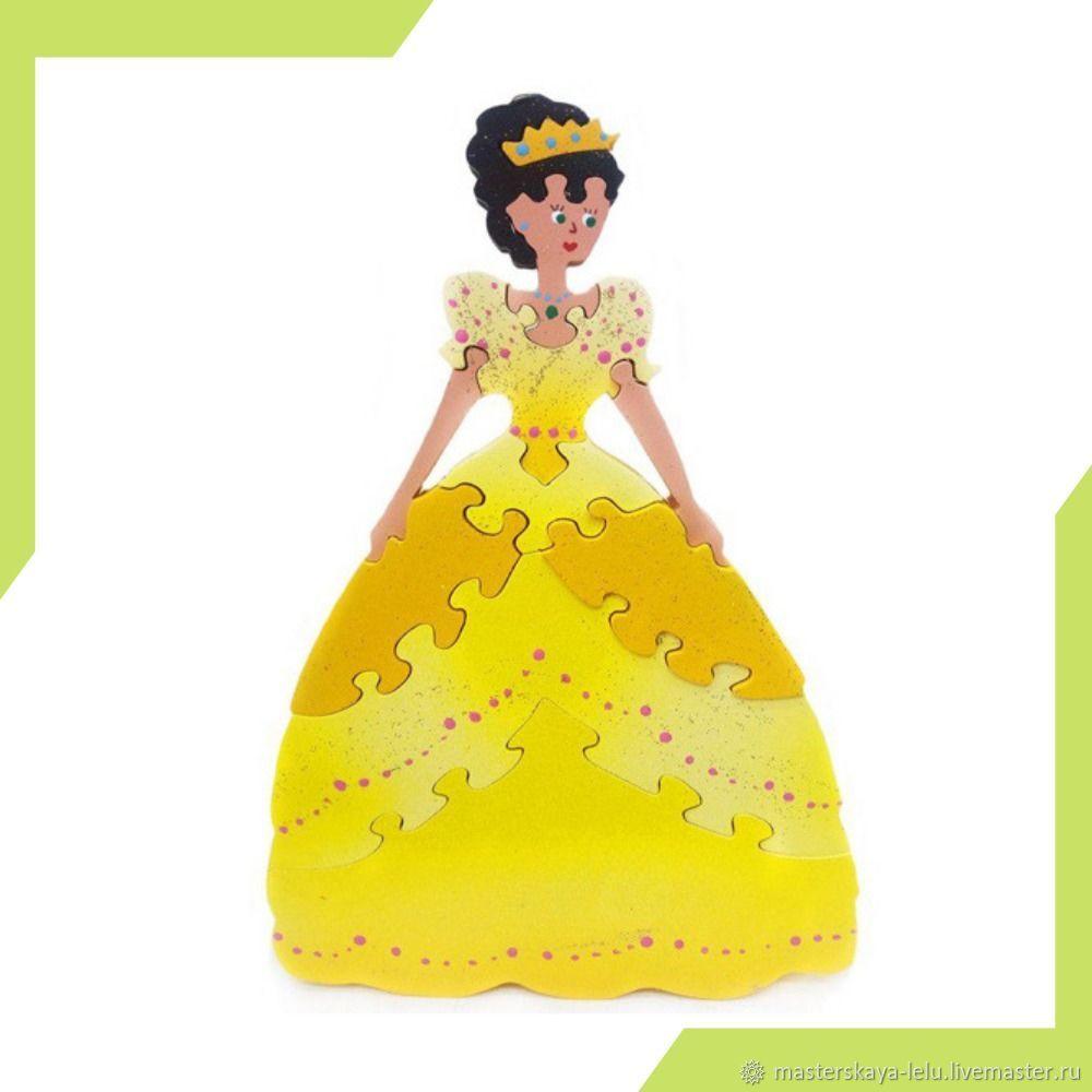 Пазл деревянный Принцесса, Развивающие игрушки, Петрозаводск, Фото №1