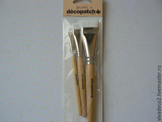Набор кистей, Decopatch, упак / 3 шт, синтетика, плоские арт PACK3PC    6/0