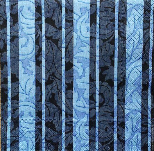 Декупаж и роспись ручной работы. Ярмарка Мастеров - ручная работа. Купить Салфетка для  декупажа  ФОНВАЯ полосы с узором. Handmade. Комбинированный