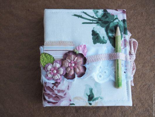 """Блокноты ручной работы. Ярмарка Мастеров - ручная работа. Купить Блокнот """"Цветочный"""". Handmade. Комбинированный, блокнот в твердой обложке, блокнотик"""