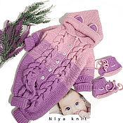 Одежда детская handmade. Livemaster - original item Knitted baby catsuit kitten. Handmade.