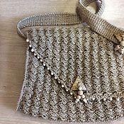Сумки и аксессуары handmade. Livemaster - original item Stylish shoulder bag of jute twine. Handmade.