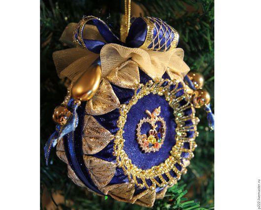 Новый год 2017 ручной работы. Ярмарка Мастеров - ручная работа. Купить Новогоднее украшение. Handmade. Новогодний сувенир, шар елочный