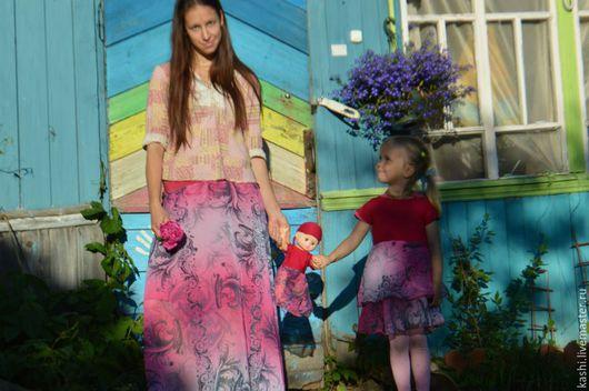 Юбки ручной работы. Ярмарка Мастеров - ручная работа. Купить Длинная юбка.Фиолетовый закат.. Handmade. Разноцветный, длинная юбка