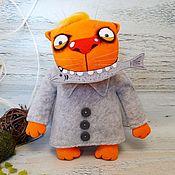 Куклы и игрушки handmade. Livemaster - original item Smelt! Red cat Vasya Lozhkina, soft plush toy. Handmade.