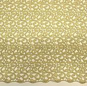 Материалы для творчества ручной работы. Ярмарка Мастеров - ручная работа Гипюр Макраме - золотой цвет. Handmade.