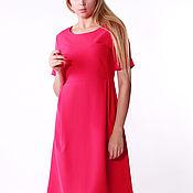 Одежда handmade. Livemaster - original item Dress color fuchsia high waist. Handmade.