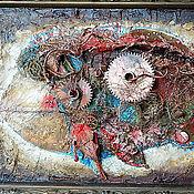 """Картины и панно ручной работы. Ярмарка Мастеров - ручная работа Картина коллаж  """"Рыба в стиле стимпанк"""". Handmade."""