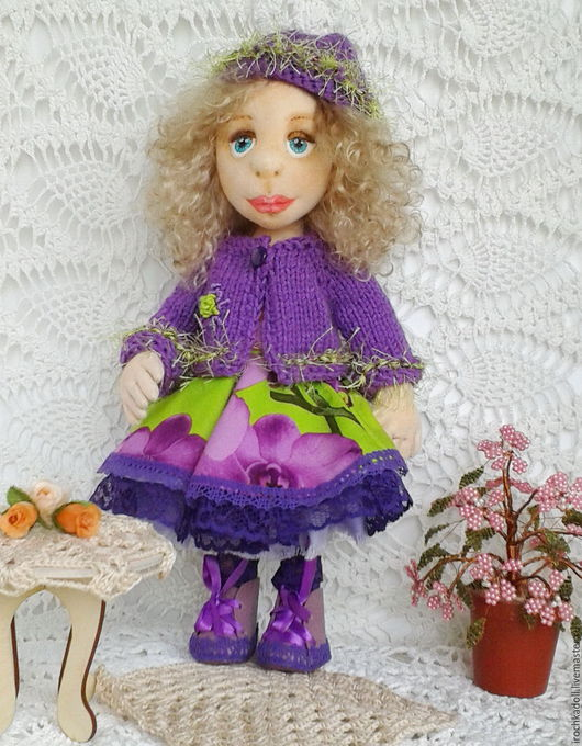Коллекционные куклы ручной работы. Ярмарка Мастеров - ручная работа. Купить Кукла  коллекционная, текстильная, с объемным личиком. Handmade. Комбинированный