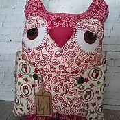 Для дома и интерьера ручной работы. Ярмарка Мастеров - ручная работа Декоративная подушка Сова. Handmade.