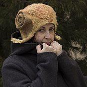 """Аксессуары ручной работы. Ярмарка Мастеров - ручная работа Шапка шлем валяная """"Золотое руно"""". Handmade."""