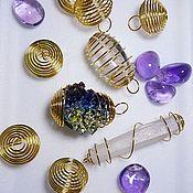 Материалы для творчества handmade. Livemaster - original item Springs for carat (gold) 30/25 mm with eyelet.. Handmade.
