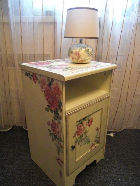 """Мебель ручной работы. Ярмарка Мастеров - ручная работа. Купить Комплект """"Английская роза"""". Handmade. Мебель, комодик, позолота"""