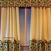 Для дома и интерьера ручной работы. Ярмарка Мастеров - ручная работа шторы для кухни Лето дача земляника. Handmade.